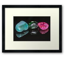 Reflections - Coloured Stones Framed Print