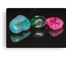 Reflections - Coloured Stones Canvas Print