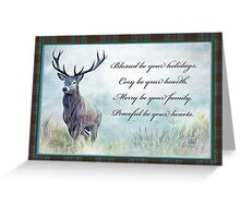 Blessed be your holidays. Greeting Card