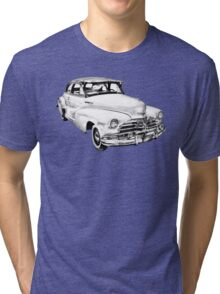 1948 Chevrolet Fleetmaster Antique Car Illustration Tri-blend T-Shirt