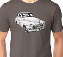 1948 Chevrolet Fleetmaster Antique Car Illustration Unisex T-Shirt