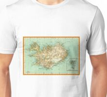 1934 Iceland map - Island - wedding gift idea - Christmas gift - memorial day gift Unisex T-Shirt