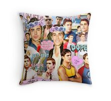 Dave Franco and Zac Efron Collage Edit Throw Pillow
