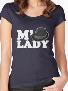 M'Lady Fedora Women's Fitted Scoop T-Shirt
