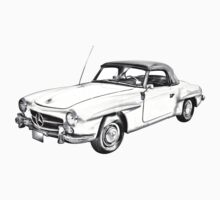 Mercedes Benz 300 sl Illustration One Piece - Short Sleeve
