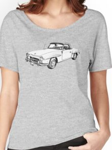 Mercedes Benz 300 sl Illustration Women's Relaxed Fit T-Shirt