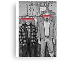 The Chemist and the Entrepreneur - Breaking Bad Canvas Print