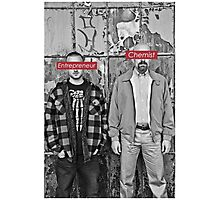 The Chemist and the Entrepreneur - Breaking Bad Photographic Print