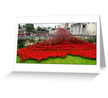 Tower Poppies, London Greeting Card