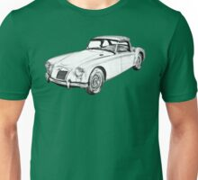 MG Convertible Sports Car Illustration Unisex T-Shirt