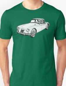 MG Convertible Sports Car Illustration T-Shirt