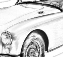 MG Convertible Sports Car Illustration Sticker