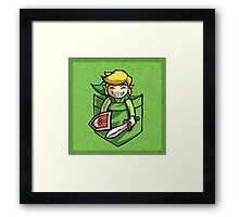 Happy Pocket Link Legend of Zelda T-shirt Framed Print