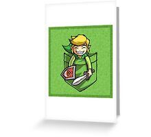 Happy Pocket Link Legend of Zelda T-shirt Greeting Card