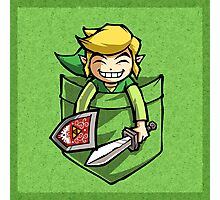Happy Pocket Link Legend of Zelda T-shirt Photographic Print