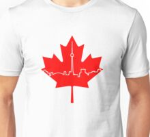 Maple Leaf Skyline - Canada Unisex T-Shirt