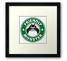 Friendly Monster Framed Print
