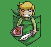 Happy Pocket Link Legend of Zelda T-shirt by Purrdemonium
