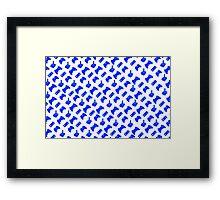 Bright Blue Gamer Framed Print