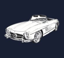 Mercedes Benz 300 SL Convertible Illustration Baby Tee