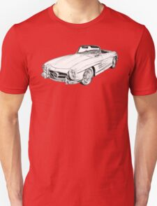 Mercedes Benz 300 SL Convertible Illustration T-Shirt