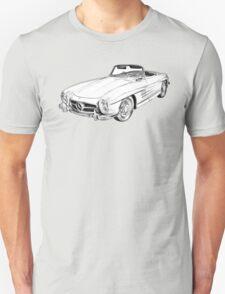 Mercedes Benz 300 SL Convertible Illustration T-Shirt