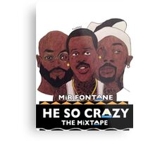 MIR FONTANE - HE SO CRAZY: MARTIN, COLE AND TOMMY Metal Print
