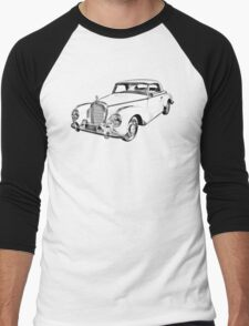 Mercedes Benz 300 Luxury Car Illustration Men's Baseball ¾ T-Shirt