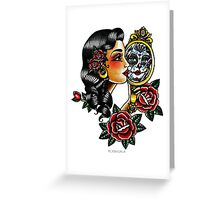 Lady Head Reflection Greeting Card