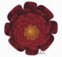 Red Flower Fractal Baby Tee