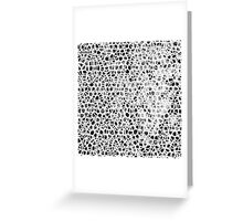 Abstract Giraffe Greeting Card