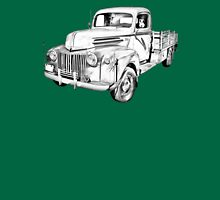 Old Flat Bed Ford Work Truck Illustration T-Shirt