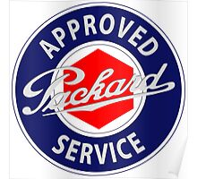 Packard Approved Service vintage sign Poster
