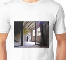 A Boarded Door In An Abandoned Building  Unisex T-Shirt