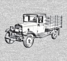 1929 chevy truck 1 ton stake Body Illustration Kids Clothes