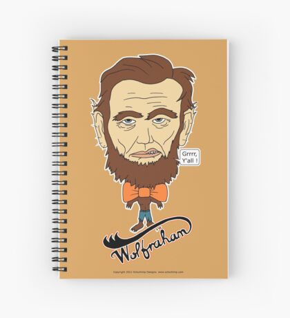 Wolfraham Lincoln Spiral Notebook