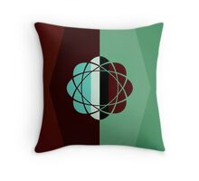 Atomic Green Earth Throw Pillow