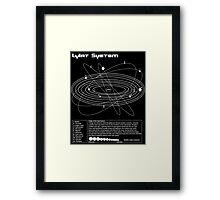 Lylat Map Framed Print