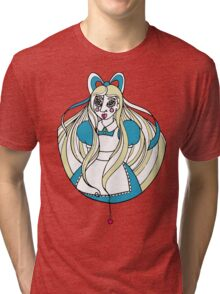 Abstract Alice Tri-blend T-Shirt