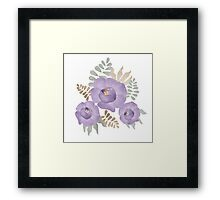 Light lilac roses.  Framed Print