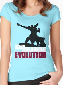 [V2] - Join the glorious evolution! Women's Fitted Scoop T-Shirt