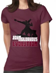 [V2] - Join the glorious evolution! Womens Fitted T-Shirt