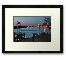Wilmington Riverfront Framed Print