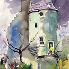 The Wallace Tower, Aberdeen, Scotland. by Mike Crawford