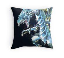 Blue Eyes White Dragon Throw Pillow