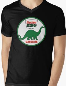 Sinclair Dino Gasoline sign. Clean version Mens V-Neck T-Shirt