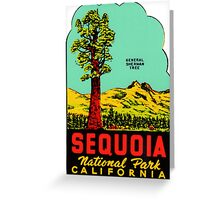 Sequoia National Park California Vintage Travel Decal Greeting Card
