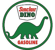 Sinclair Dino Gasoline sign. Clean version Photographic Print