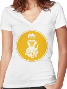 Octochimp - single colour Women's Fitted V-Neck T-Shirt