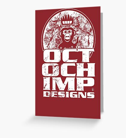 Octochimp Designs Greeting Card